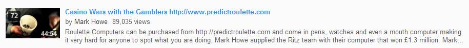 Mark howe roulette mobile bingo free deposit